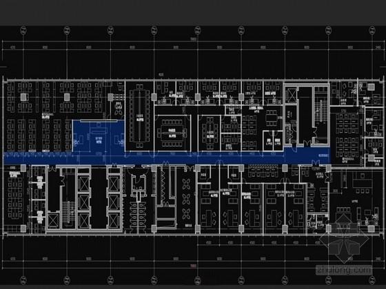 [北京]现代风格石油投资公司办公空间室内设计方案