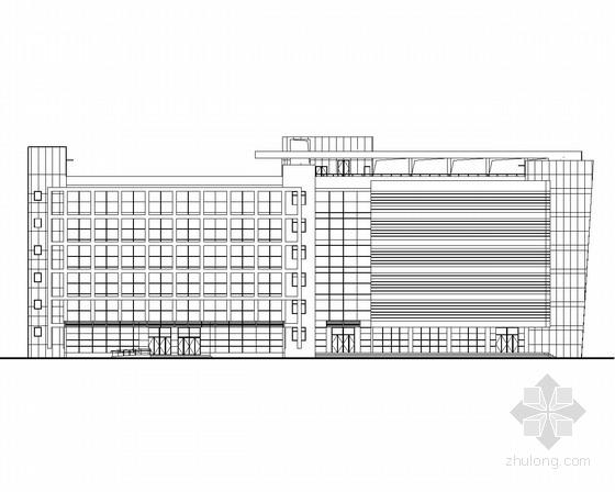 [上海]某6层办公楼建筑方案图
