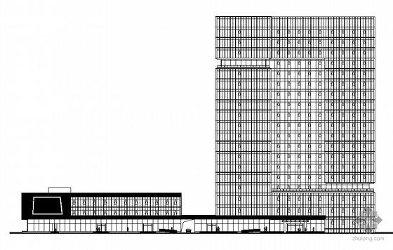 某十九层政府办公楼幕墙建筑施工图(2010年设计,全玻璃呼吸式幕墙、带人防地下室 )