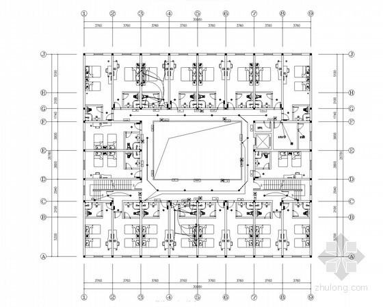 [云南]快捷酒店室内装修水电工程施工图纸