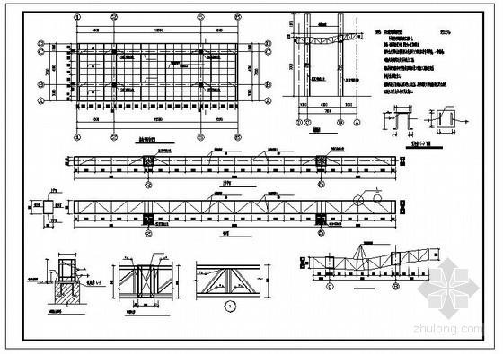 某钢桁架大门造型结构设计图