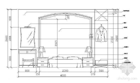 床头墙面立面图块11