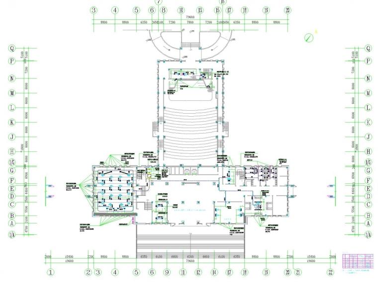 [江西]多层教育建筑空调通风及防排烟系统设计施工图