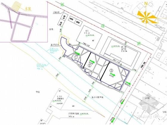 [浙江]中学地下室桩锚支护结合内支撑支护施工图