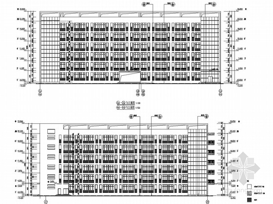 [安徽]6栋框架剪力墙结构大学学生公寓结构施工图(含建筑施工图)