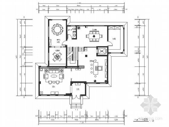 [原创]豪华典雅中式风格三层别墅室内装修施工图