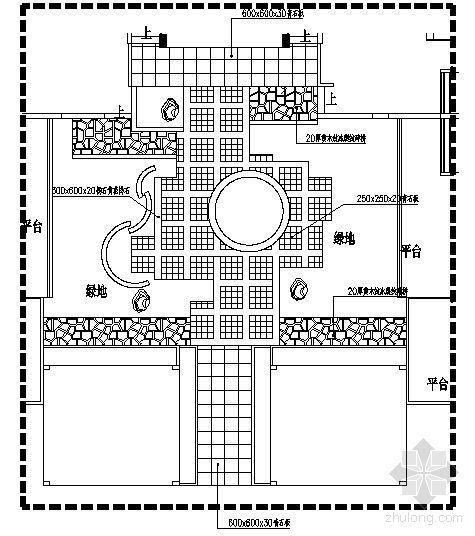重庆别墅区16#四合院内庭景观施工图