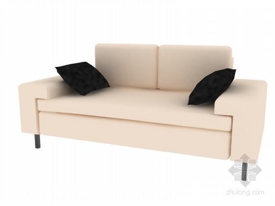 双人沙发3D模型下载