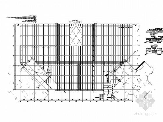 地下三层框架结构车库结构施工图(地上一层商铺)