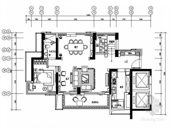 [深圳]城市花园新古典复式样板房设计装修图