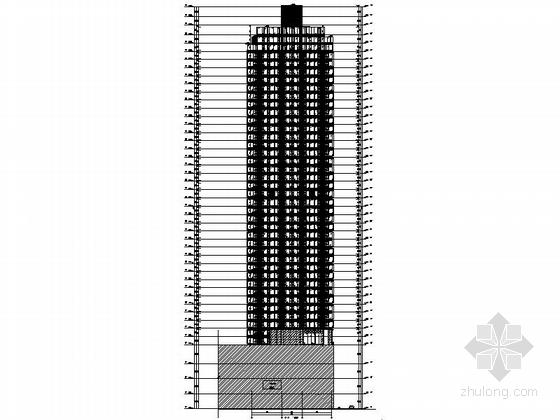 [四川]160米独栋现代风格住宅楼设计施工图(知名建筑设计院)-160米独栋现代风格住宅楼立面图