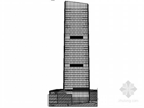 [成都]超高层玻璃幕墙立面国际贸易办公大厦施工图(图纸精细值得参考)