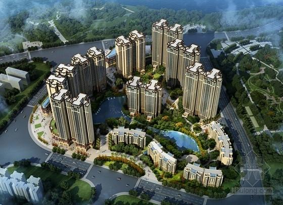[四川]园林式景观主题高档住宅小区规划设计方案文本(4个方案)