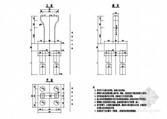 互通主线高架桥桥墩一般构造节点详图设计