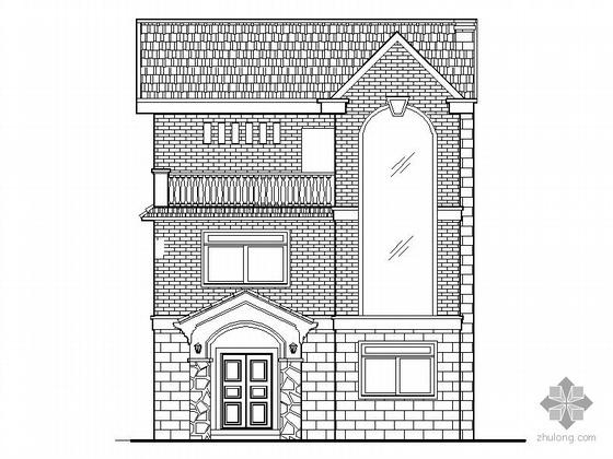 [郴州]某三层欧式风格小别墅建筑施工图(含效果图)