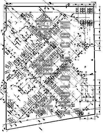 某居住区大型地下停车场施工图(含人防工程)