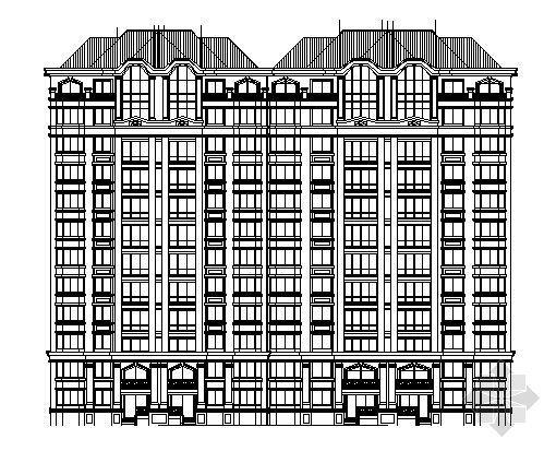 小高层住宅楼平剖面图