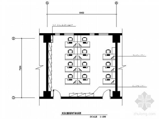 [陕西]某股份有限公司调度指挥中心办公楼局部装修图