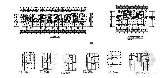 两室两厅两卫和三室两厅两卫小户型图集