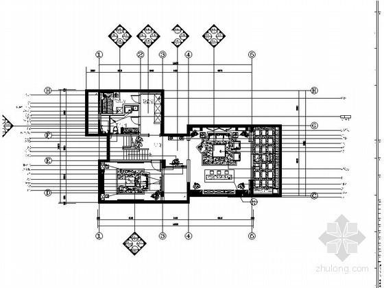 [扬州]某双层别墅样板房装修图