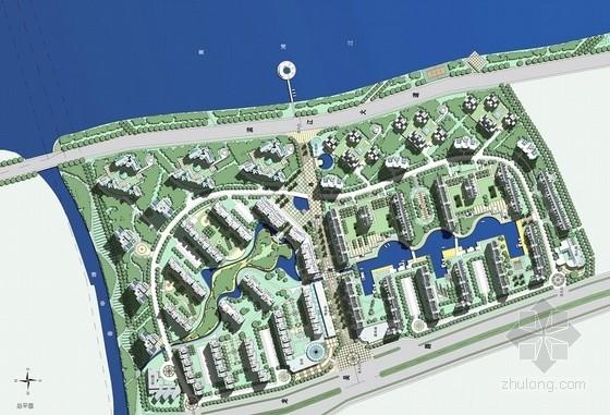 [上海]欧式风格大型滨江居住区规划设计方案