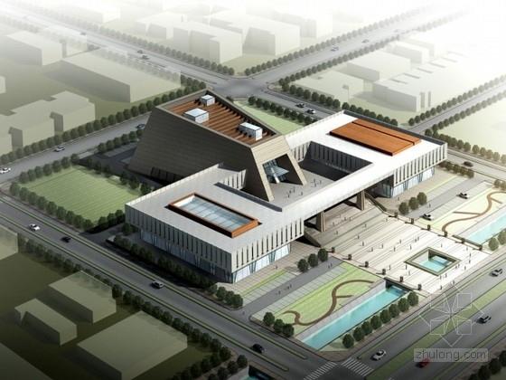[四川]某五层文化中心建筑方案文本(含CAD、动画)
