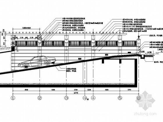 3种小区地下车库出入口设计施工图