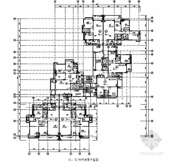 [毕业论文]小高层、高层、超高层建筑物结构含钢量、混凝土用量及经济指标分析(200页)-标准层户型图