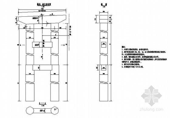 30mT梁桥双柱墩一般构造节点详图设计