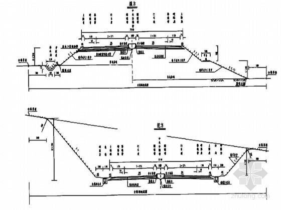 双向四车道一级公路路基路面二阶段施工图221页(含排水)