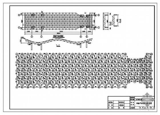 西安某中学大门网架结构图