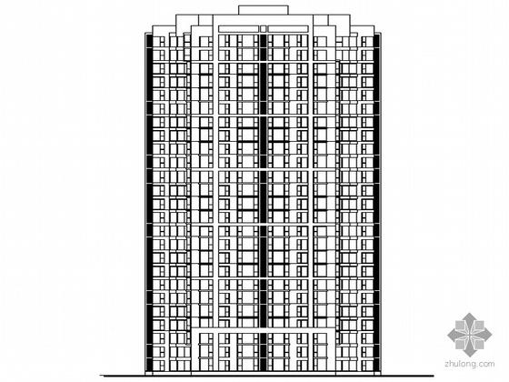[北京市]某监察局干部职工集资住宅楼建筑施工图(含6个精美素模)