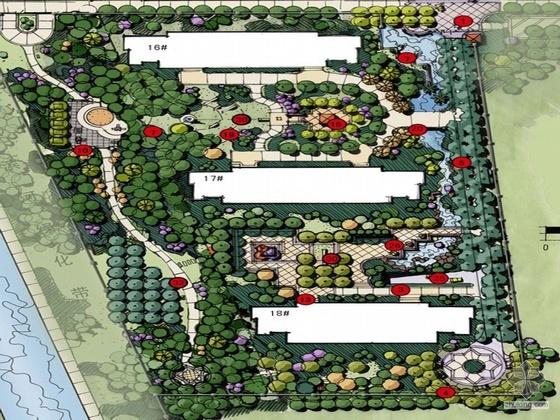 [河北石家庄]某江花月小区建筑结构水电施工图(另包括配套园林方案文本EDSA)