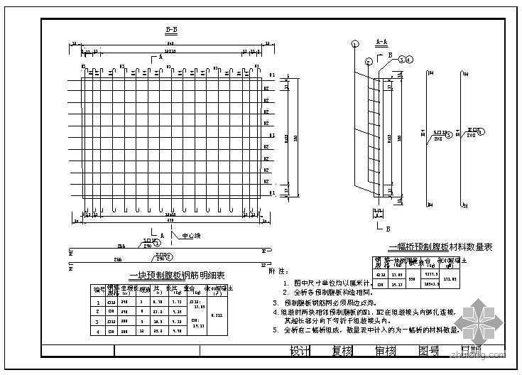等截面箱形钢筋混凝土拱桥设计图纸