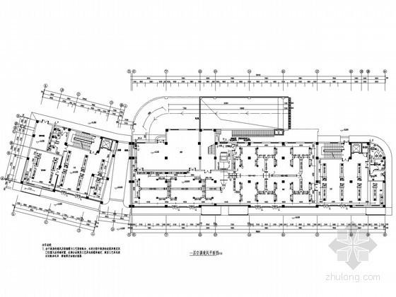 [陕西]商务酒店暖通空调系统设计施工图(溴化锂直燃机系统)