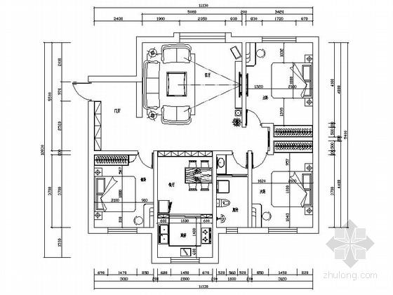 [新疆]中式风格三居室装修图