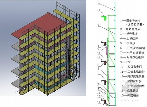 [贵州]超高层建筑导座式升降脚手架专项施工方案(147页 多图)
