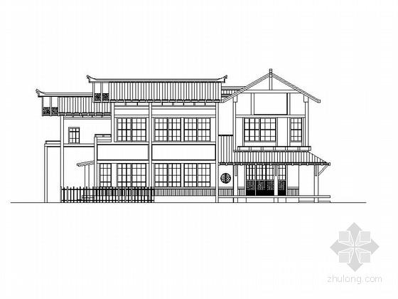 两层日式风格别墅建筑施工图