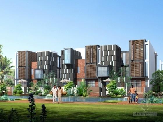 [武汉]某高尚住宅区规划及单体设计方案文本