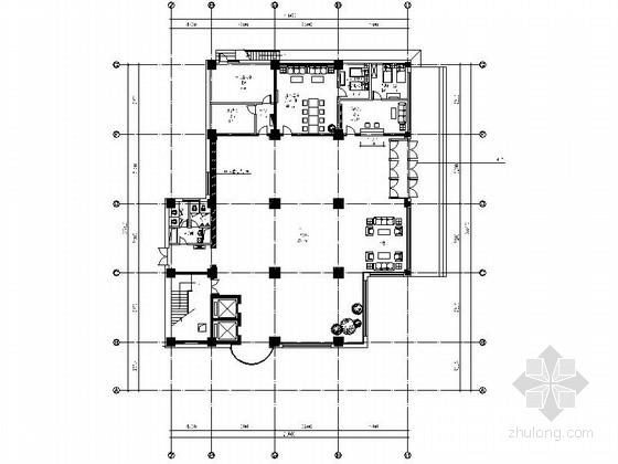 [原创]现代石化大厦办公楼室内装修CAD施工图(含效果)