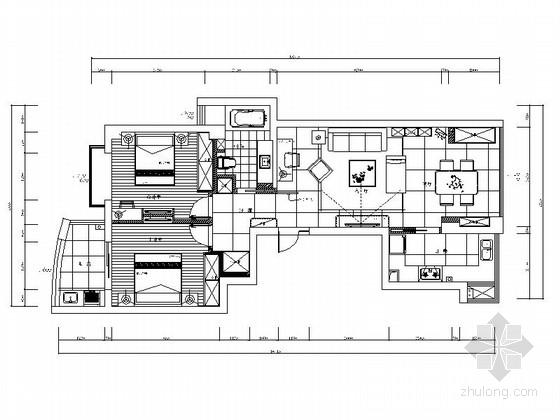 [宁波]都市荣耀名宅高档现代两居室样板间装修图