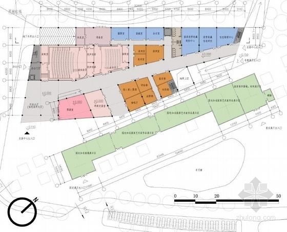 [深圳]两层清水混凝土拍卖交易中心改建设计方案文本-两层清水混凝土拍卖交易中心改建平面图