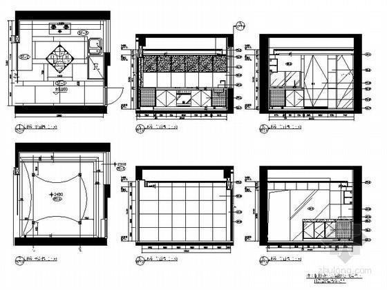 欧式样板间厨房立面图