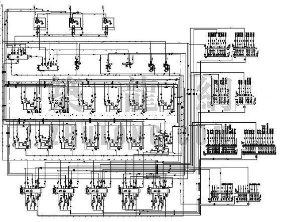 制冷氨系统工艺流程图