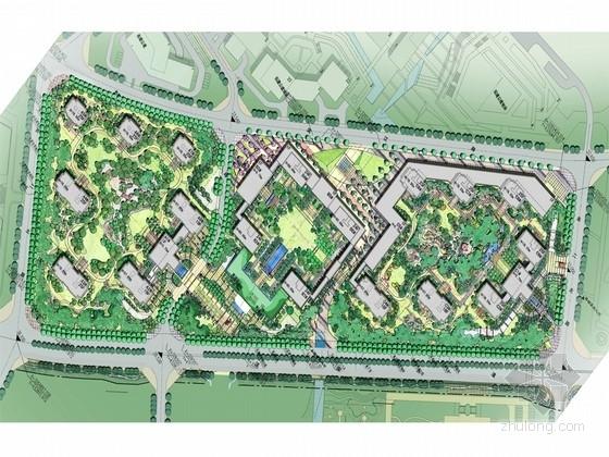 [浙江]新古典主义滨水简洁居住区景观规划设计方案
