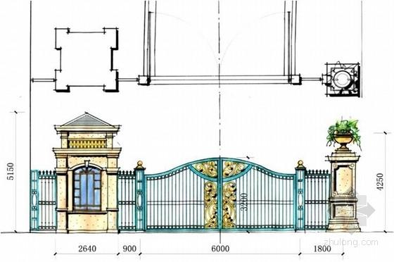 [河北]豪华安静住宅小区景观设计方案-节点剖面图