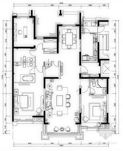 [北京]现代奢华风格样板间软装设计方案