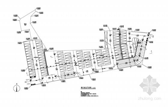 [PDF]100车位室外停车场工程全套施工图(7张)