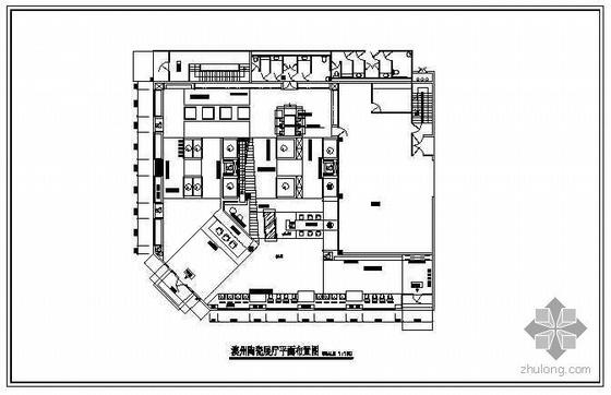 陶瓷展厅装修施工图