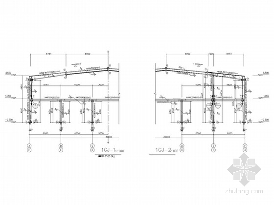 两层门式刚架厂房结构施工图